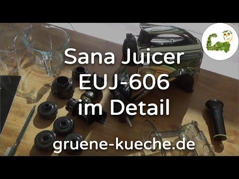 Sana Juicer by Omega EUJ-606 - Entsafter Test - alle Teile 1-6