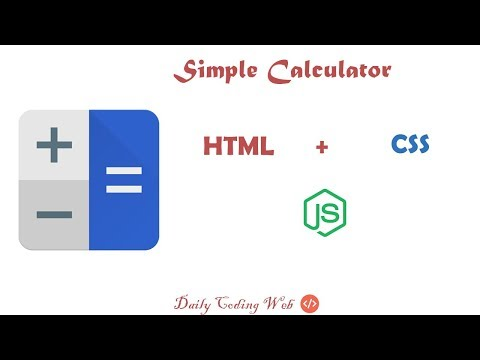 Simple Calculator With HTML CSS And JavaScript