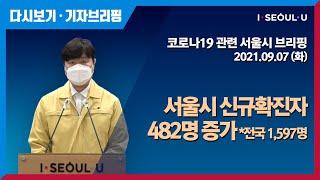 코로나19 관련 서울시 브리핑 - 9월 7일   서울시…