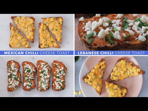 Mexican Chilli Cheese Toast + Lebanese Chilli Cheese Toast Recipes   Glamrs