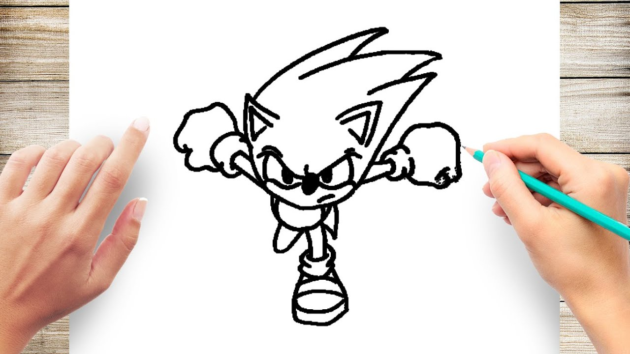 simple sonic the hedgehog easy drawing
