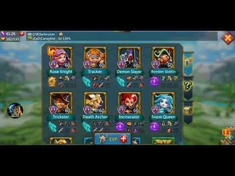 Lords Mobile - Best F2P Infantry Attack Hero's!!!!