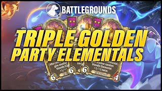 Triple Golden Party Elemental | Dogdog Hearthstone Battlegrounds