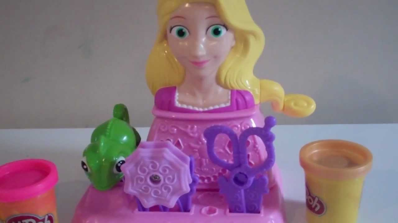 Play Doh Princess Rapunzel Hair Designs Playset Unboxing And Review