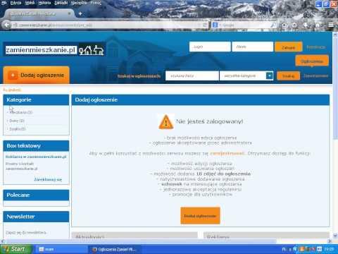 www.zamienmieszkanie.pl Baza Ogłoszeń zamiany mieszkań