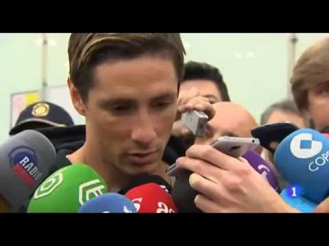 Fernando Torres Arrives in Barajas Madrid Airport (30/12/2014)