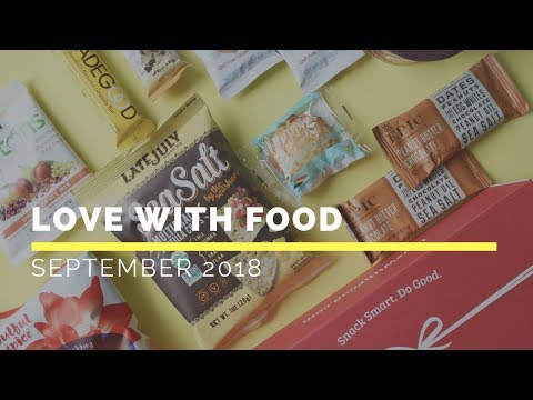 Love With Food Subscription Box Unboxing September 2018