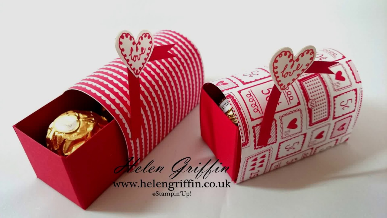 StampinUp Ferrero Rocher Valentines Mini Post Box