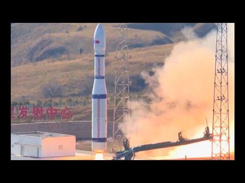 Footage Of Chinese Long March 6 Rocket Launching Jilin 1 Earth Observation Satellites
