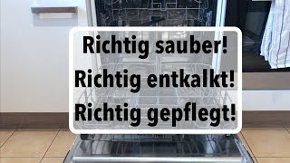 Geschirrspüler reinigen, entkalken & pflegen - so gehts richtig!