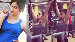 Actress Nandita Swetha hot Gym video