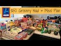 $50 Aldi Grocery Haul // Weekly Meal Plan