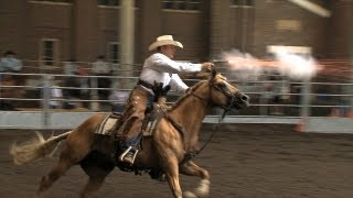Cowboy Mounted Shooting Demo | Iowa State Fair 2013