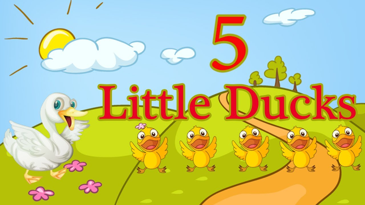 Five Little Ducks Spring Songs For Children Nursery Rhymes By The Learning Station You