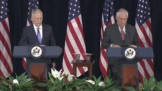 Secretary Tillerson and Secretary Mattis Joint Press Availability