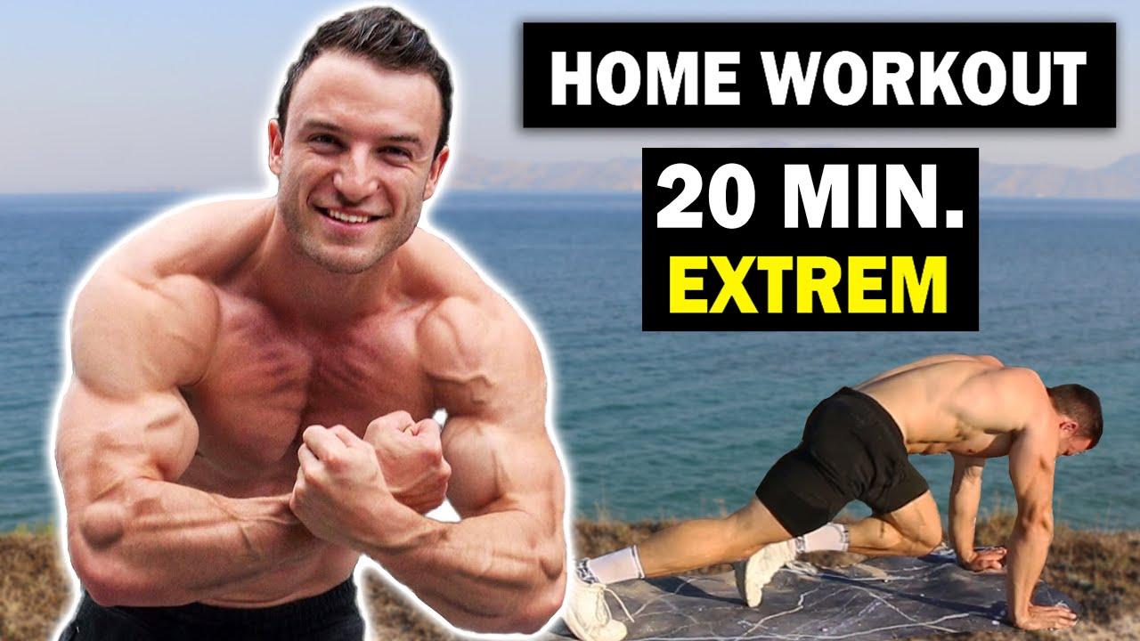 20 Min. HIIT-Ganzkörper Workout für Zuhause – Sehr Effektiv! | Sascha Huber