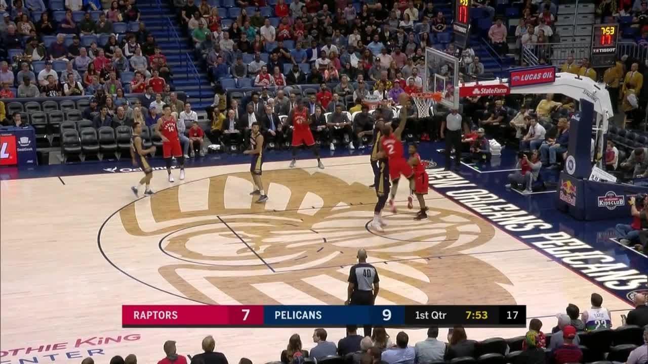 1st Quarter One Box Video New Orleans Pelicans Vs Toronto Raptors