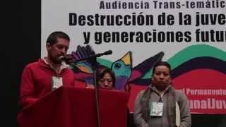 Cholula en Tribunal Permanente de los Pueblos nov2014