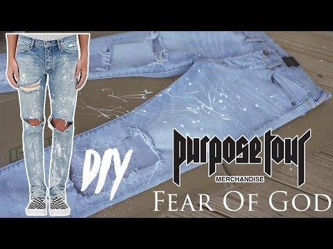 FEAR OF GOD PURPOSE TOUR DENIM DIY | Paint Splatter Denim