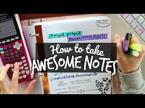 How to Take Awesome Notes! Creative Note-Taking Hacks