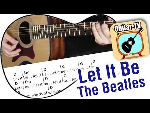 Let it be - Cover - Chords & Lyrics - Beginner Guitar lesson
