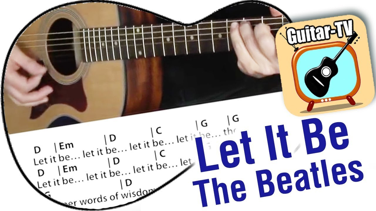 121 Let It Be Beatles Cover Chords Lyrics How To Play