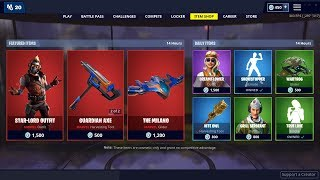 🔴 *NEW* STAR LORD Skin, DANCE OFF Emote, THE MILANO Glider - April 30th Fortnite Daily Item Shop