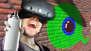 MY GRAFFITI MASTERPIECE | Kingspray VR (HTC Vive Virtual Reality) thumbnail