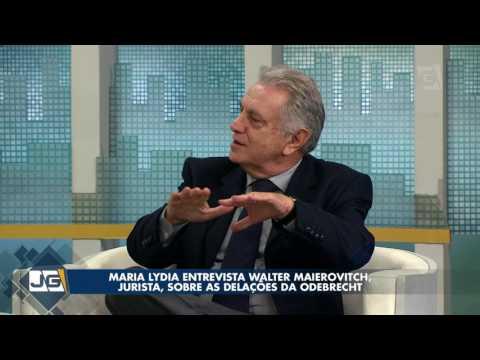 Maria Lydia entrevista Walter Maierovitch, jurista, sobre as delações da Odebrecht