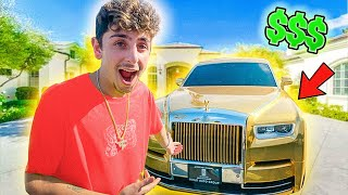 I Surprised FaZe Rug With a GOLD ROLLS ROYCE...