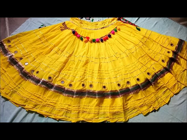 Beautiful jago and gidha ghagra | Complete stitching and cutting tutorial Traditional punjabi style