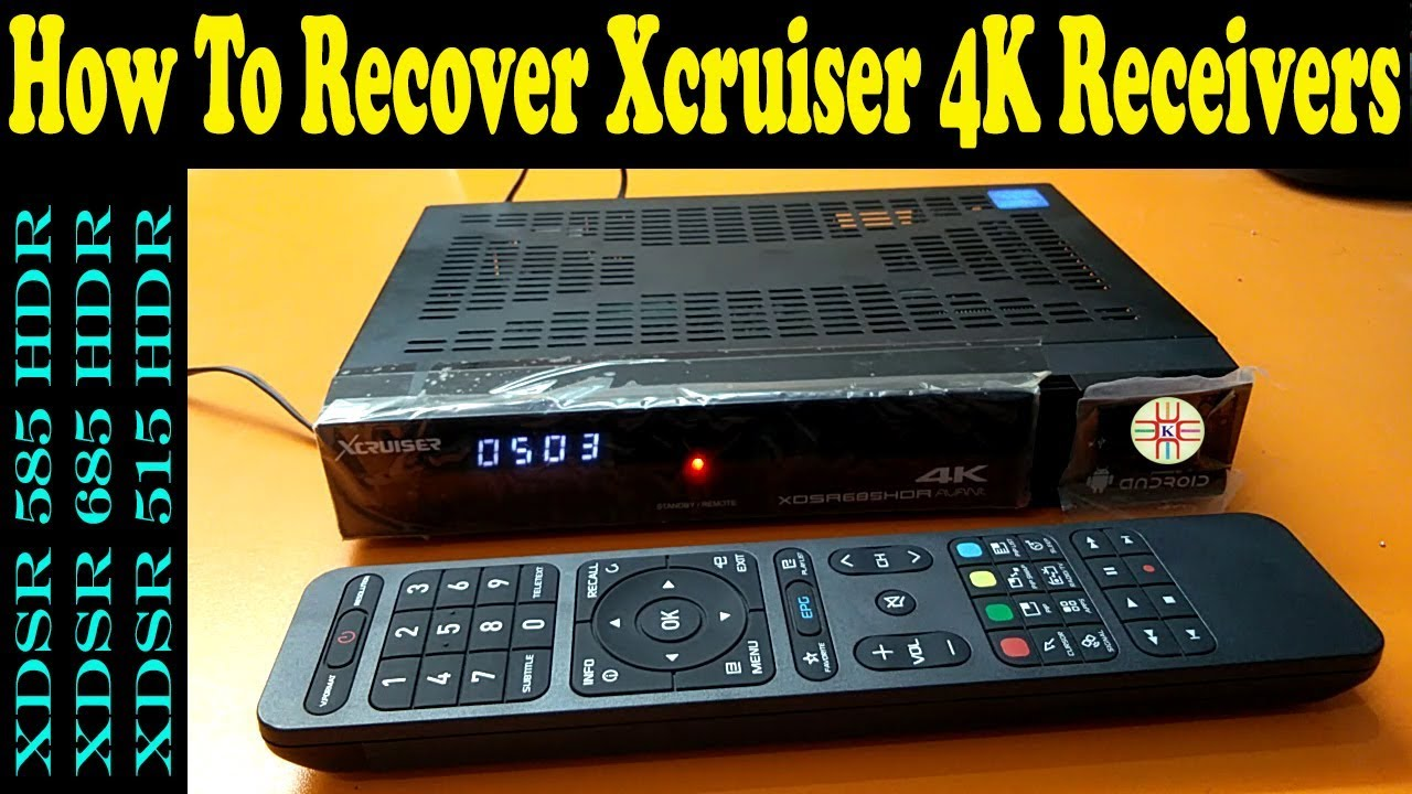 How to Recover Xcruiser 4K Receivers by USB in Case of Hangup or Booting  Issue  in Urdu/Hindi