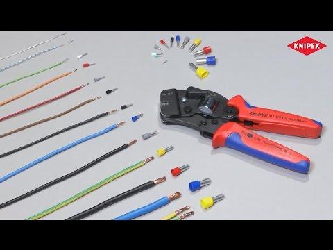 Knipex 97 53 09 SB Selbsteinstellende Crimpzange für Aderendhülsen Zange 975309