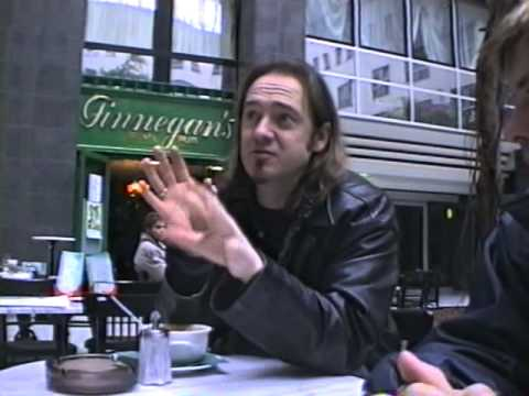 """Bruce Dickinson & Adrian Smith talking about the  """"Accident of Birth"""" Record (1997) in Berlin"""