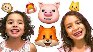 Old MacDonald Had a Farm with Animojis with Animal Sounds | FAM JAM