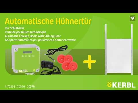 Automatische Hühnertür mit Schiebetür (#70546|70547)