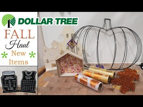 WOW! Dollar Tree  FALL  Haul **NEW ITEMS** August 2019 🍁🎃