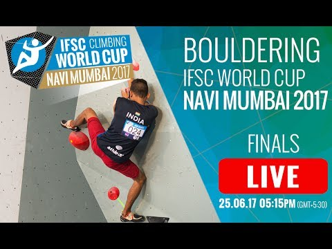 Download Youtube: IFSC Climbing World Cup Navi Mumbai 2017 - Bouldering - Finals - Men/Women