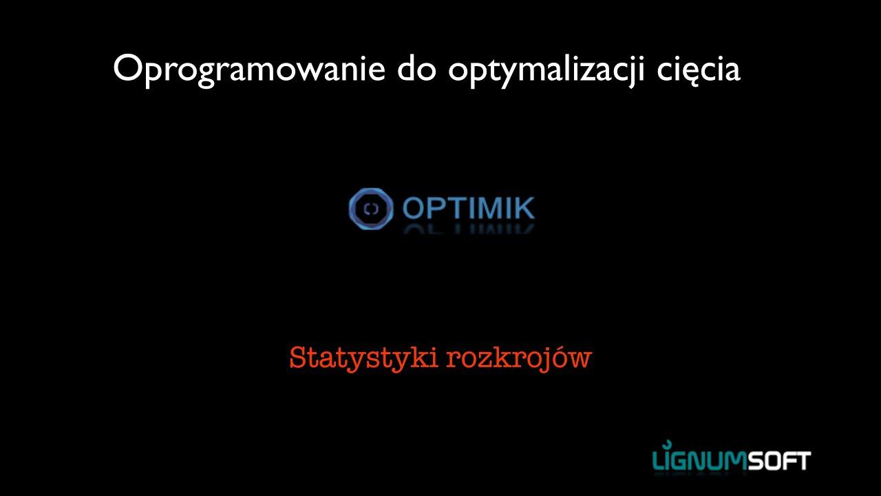 Optimik - Statystyki rozkrojów