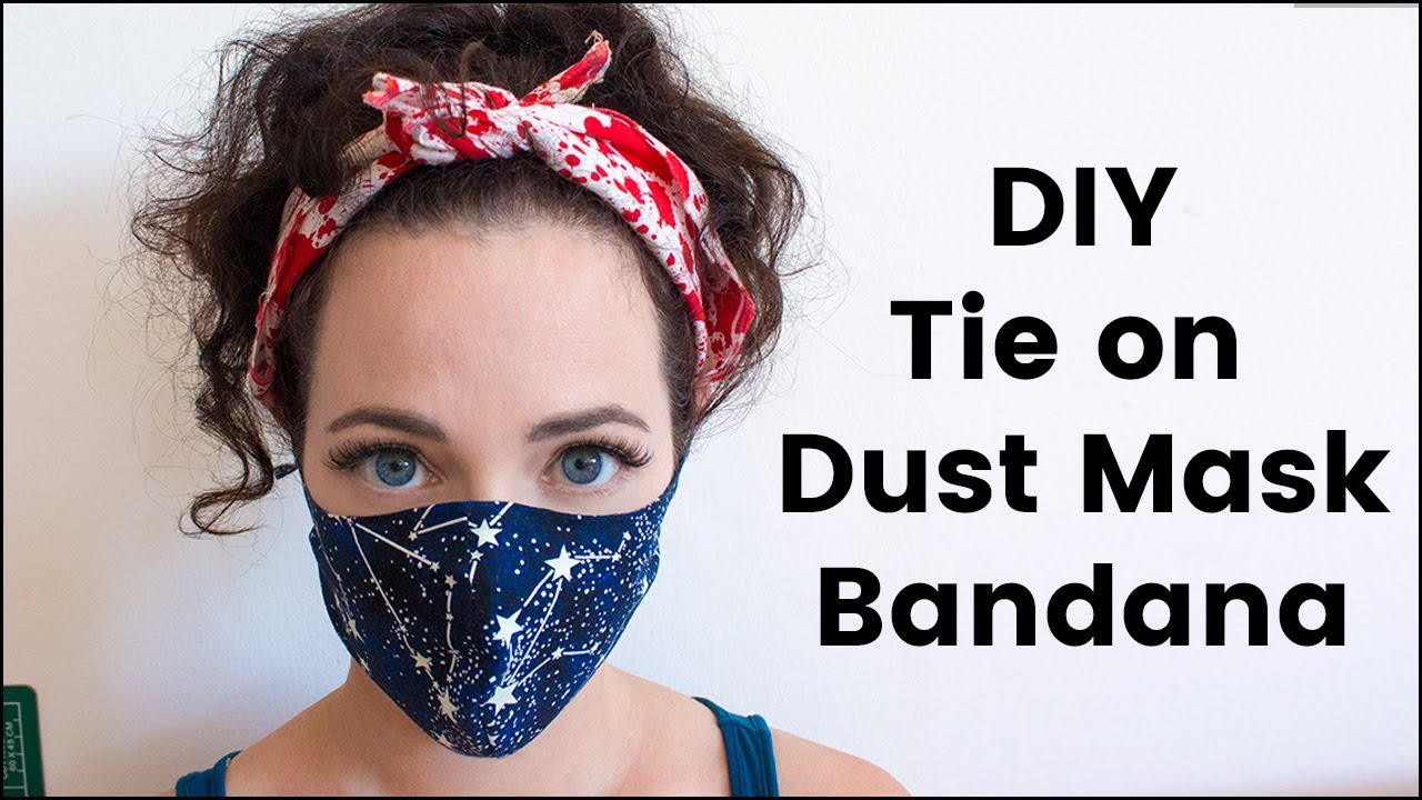 DIY Tie On Dust Mask/Bandana For Burning Man