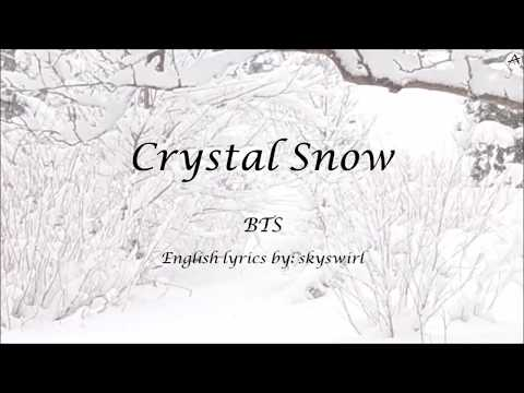 Crystal Snow - English KARAOKE (Piano Instrumental) - BTS