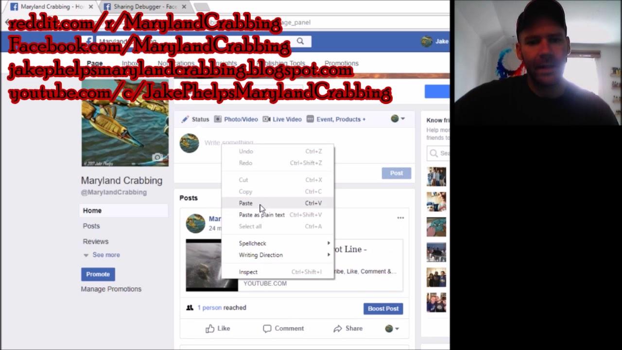 Jake Phelps Facebook: Fixing Youtube Thumbnail Not Showing On Facebook 2019