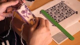 スウェーデンのゴットランド地方に伝わる伝統模様を編んでいます。 京都...