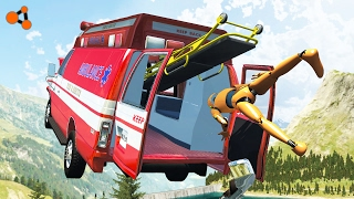 Video Beamng drive - Ambulance crashes with Dummy (real sounds, dummy crashes) download MP3, 3GP, MP4, WEBM, AVI, FLV Januari 2018