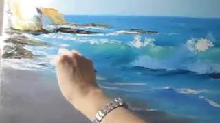 Море акриловыми красками