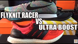 Nike Flyknit Racer vs Adidas Ultra Boost Comparison Video Review