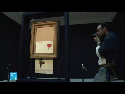 بيع لوحة للفنان بانكسي بأكثر من مليون يورو بعد تمزقها!  - 17:56-2018 / 10 / 15