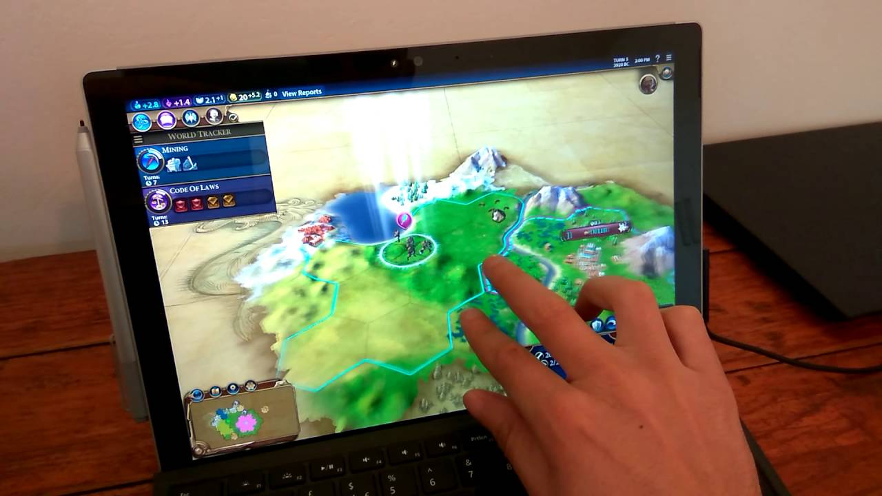 Civilization VI on Surface Pro 4 i5/256/8
