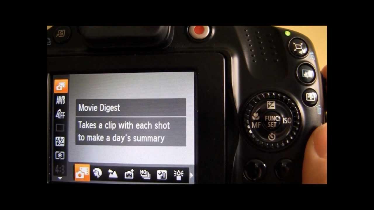 canon powershot sx40 hs tutorial step four scene mode youtube