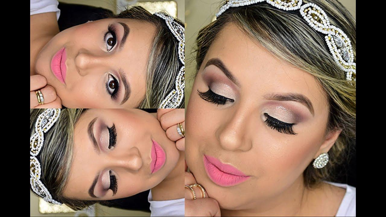 Preferência Maquiagem para Noiva Delicada - YouTube WZ79